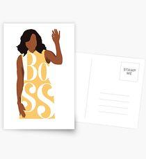 Chef, Michelle Obama Postkarten