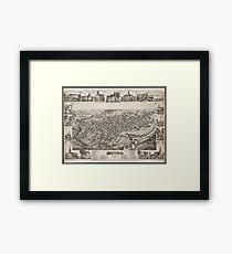 Vintage Pictorial Map of Dover Delaware (1885) Framed Print