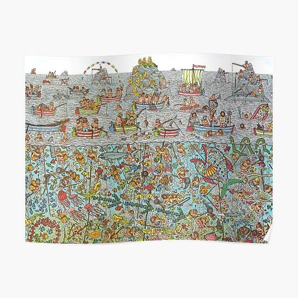 Wheres Waldo Underwater Scene Poster