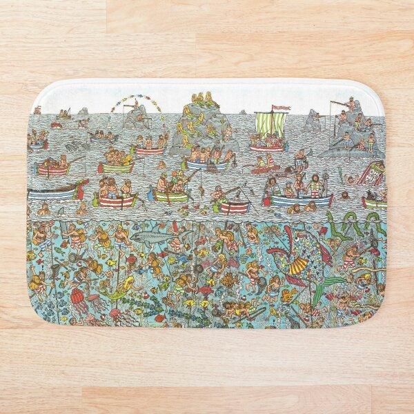 Wheres Waldo Underwater Scene Bath Mat