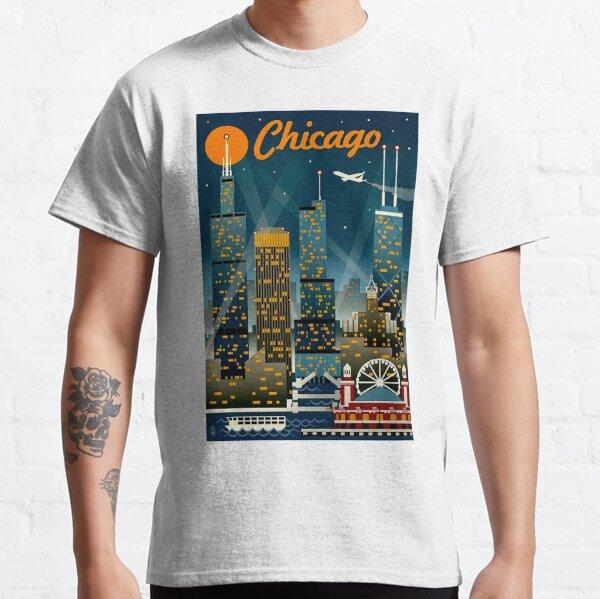 """CHICAGO"" Vintage Travel Advertising Print Classic T-Shirt"