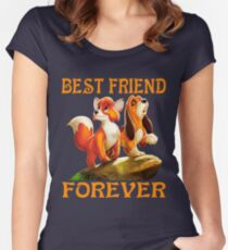The fox and the hound Women's Fitted Scoop T-Shirt