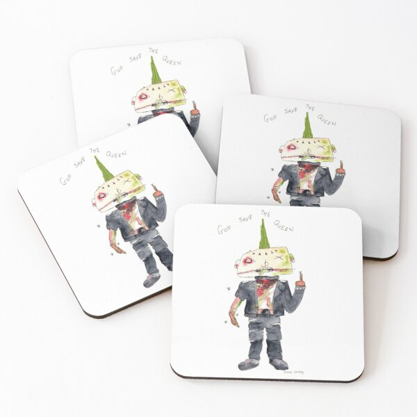 God Save The Queen Coasters (Set of 4)