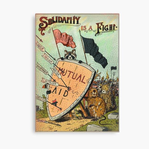 La Solidarité est un combat – Aide Mutuelle & Anarchie Impression sur toile