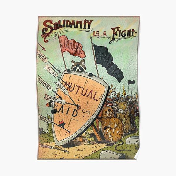 La Solidarité est un combat – Aide Mutuelle & Anarchie Poster