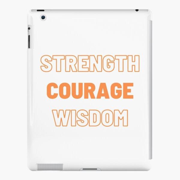 Strength Courage Wisdom (Orange), Calming Art, Printable Wall Art, Buddhism Wall Art iPad Snap Case