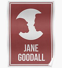 JANE GOODALL - Women in Science Wall Art Poster