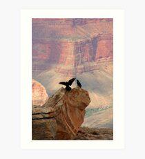 Grand Canyon Ravens Art Print