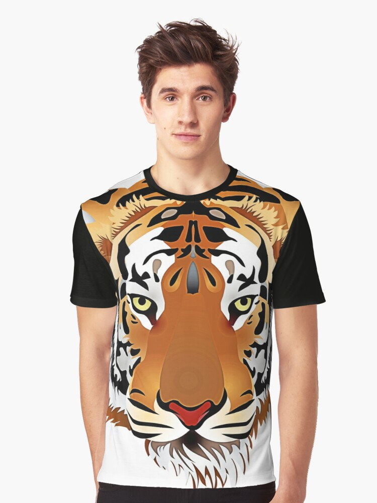 Tiger 578 Graphic T-Shirt Front