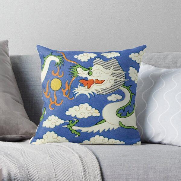 Chinese Dragon by Christopher Dresser Throw Pillow