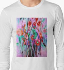 """""""ABSTRACT PSYCHEDELIC FLOWERS"""" Whimsical Print T-Shirt"""