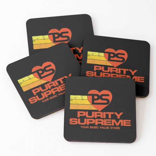 Purity Supreme T-ShirtPurity Supreme - Color  Logo w Stripes Coasters (Set of 4)