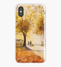 A Walk at Sunrise iPhone Case/Skin