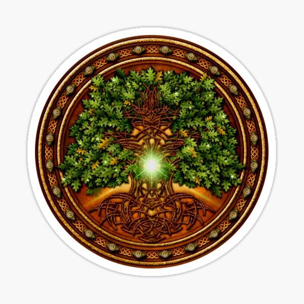 Celtic Oak Tree Shield Sticker