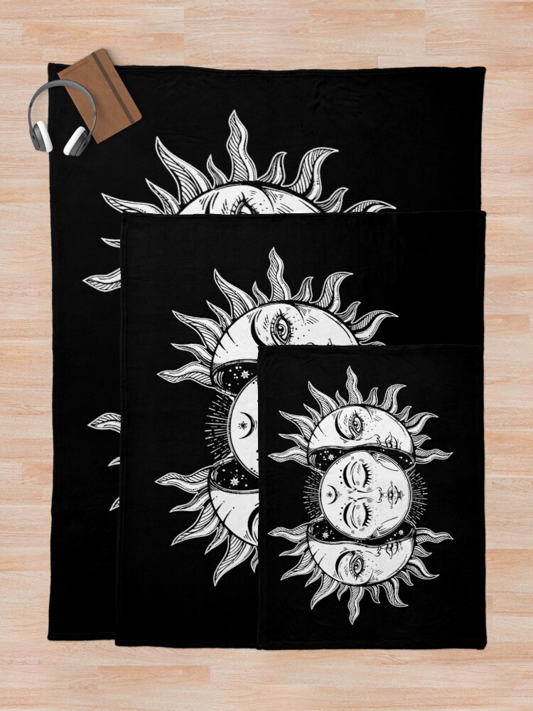 Alternate view of Sun and moon Throw Blanket