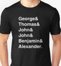 Founding Fathers (Hamilton included) - white Unisex T-Shirt