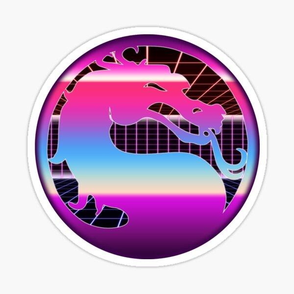 80's Cyber Grid Mortal Kombat Logo Sticker