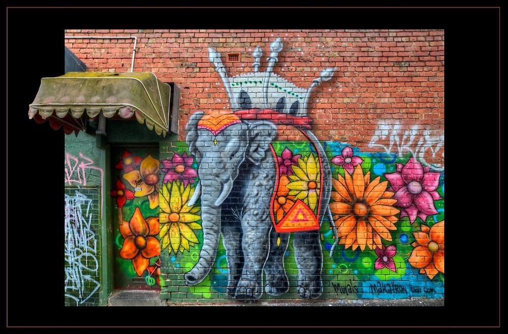 Flowerful Elephant by Chris Mitchell