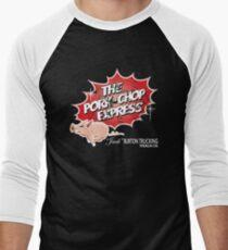 Pork Chop Express -  Distressed Men's Baseball ¾ T-Shirt