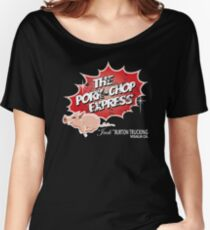 Pork Chop Express -  Distressed Women's Relaxed Fit T-Shirt