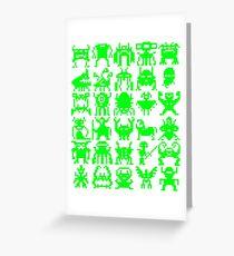 Warp Zone Creatures: Green Greeting Card