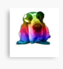Psychedelic John Lennon Basset Hound Dog Canvas Print