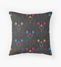 Mad Science Damask Throw Pillow