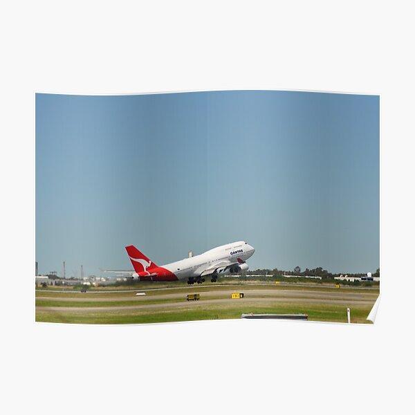 QANTAS 747-400 Poster