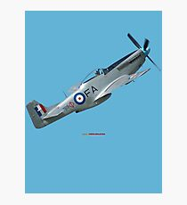 Plane & Simple - CAC Mustang VH-MFT Photographic Print