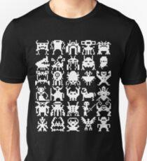 Warp Zone Creatures: White Unisex T-Shirt