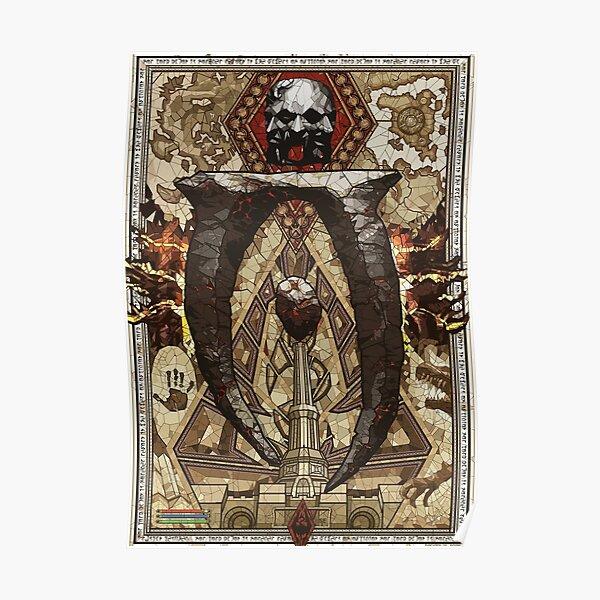 Elder Scroll Oblivion Conjuration Stain Glass Poster
