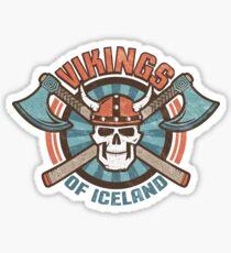 viking skull Sticker