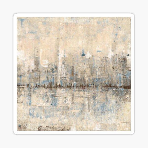 Impressionist Skyline Sticker