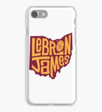 lebron the king james iPhone Case/Skin