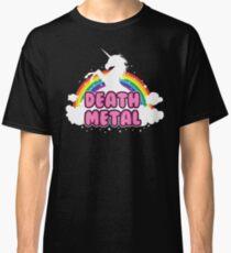 DEATH metal parody funny unicorn rainbow  Classic T-Shirt