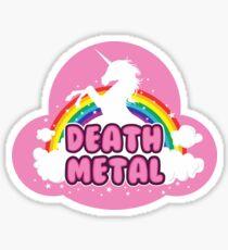 DEATH metal parody funny unicorn rainbow  Sticker
