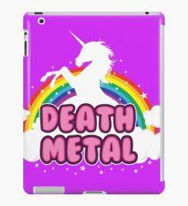 DEATH metal parody funny unicorn rainbow  iPad Case/Skin