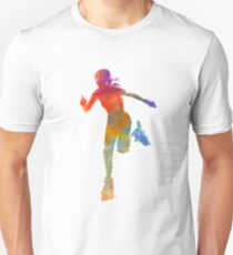 Woman in roller skates 12 in watercolor T-Shirt