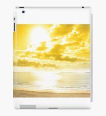 panorama of a Beautiful yellow sun over the Ballybunion beach iPad Case/Skin