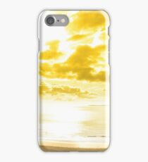 panorama of a Beautiful yellow sun over the Ballybunion beach iPhone Case/Skin