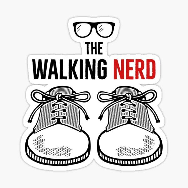 Walking nerd Sticker