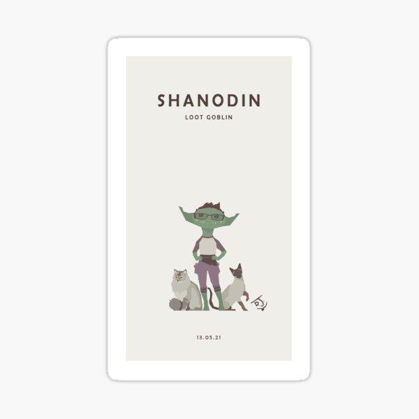 Shanodin the Loot Goblin Sticker