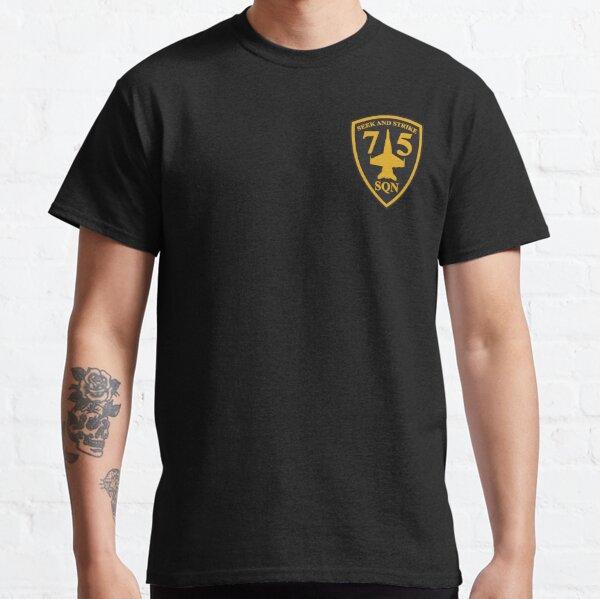 Australian F/A-18 Hornet 75th Squadron (Small logo) Classic T-Shirt