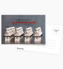 Star Wars themed Birthday Card Postcards