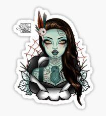 Miss Aotearoa BROWN Hair Sticker