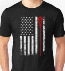 Lacrosse Stick - Lacrosse American Flag Shirt T-Shirt