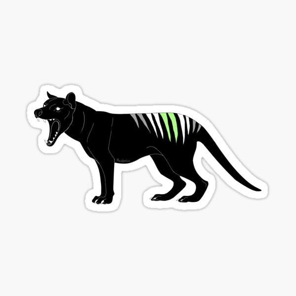 Thylacine - Agender Pride Flag Sticker