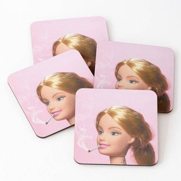 Doll Smoking Coasters (Set of 4)