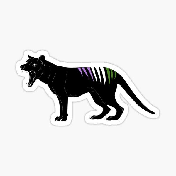 Thylacine - Genderqueer Pride Flag Sticker