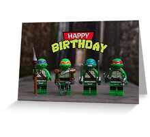 Teenage Mutant Ninja Turtles themed Birthday Card Greeting Card